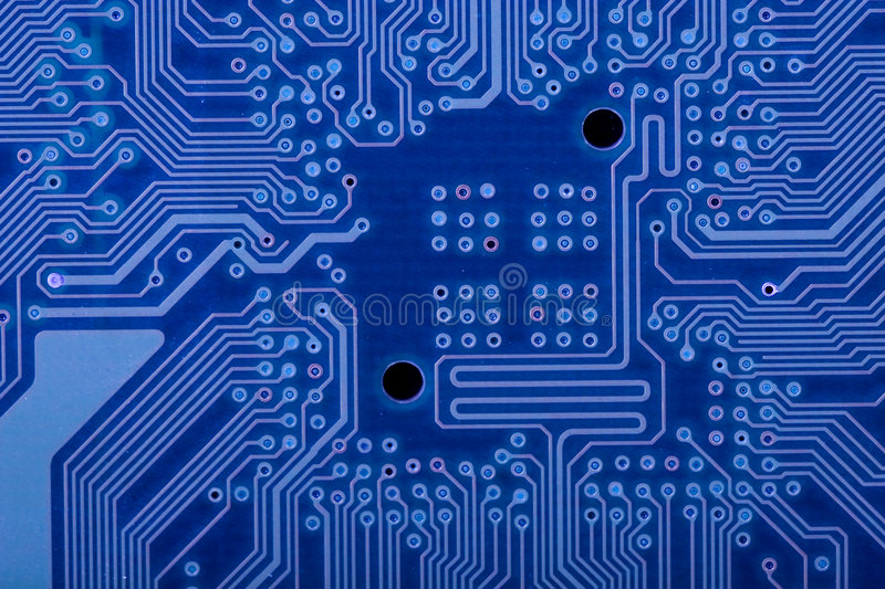 Blue circuit board stock image. Image of desktop, blur - 6468497
