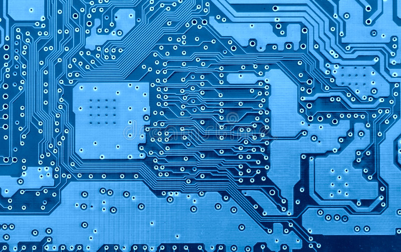 Download Blue Circuit Board Close-up Stock Photo - Image: 2682110