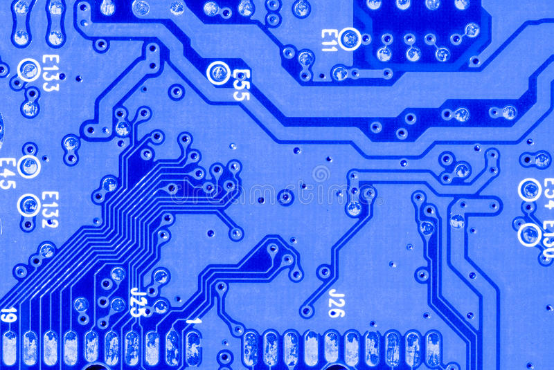 Download Blue Circuit Board Closeup Royalty Free Stock Photo - Image: 21920215