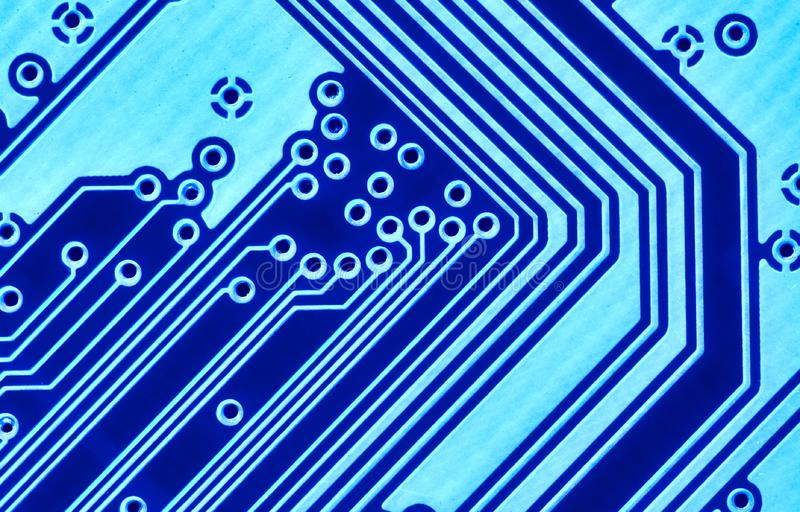 Blue Circuit Board Macro Stock Photography