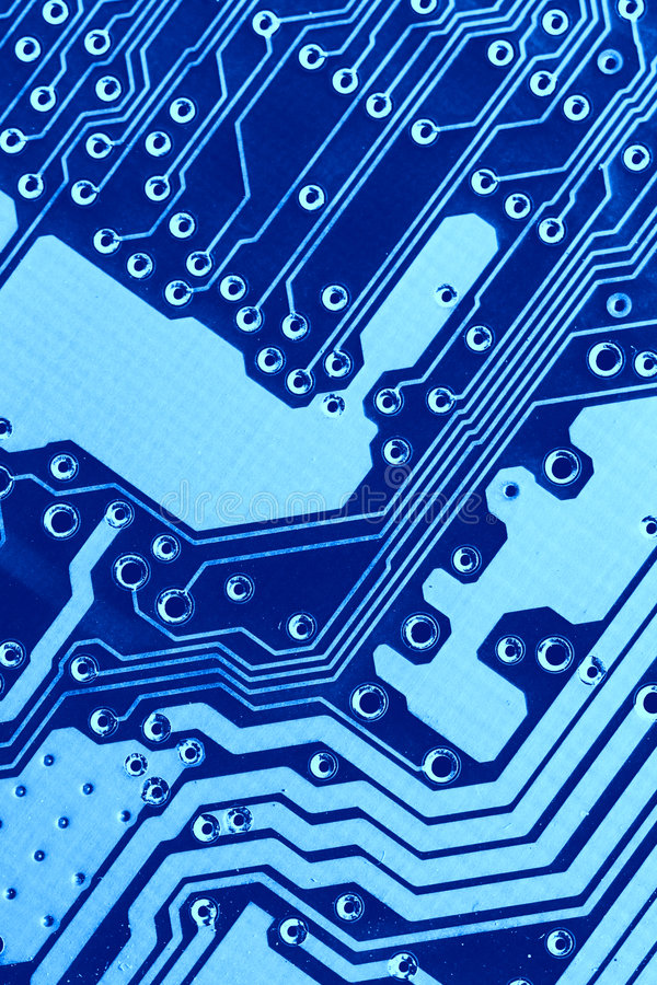 Blue circuit board macro. May be used as background royalty free stock image