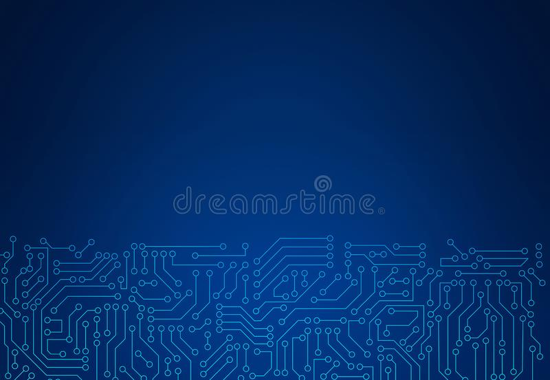 Blue circuit board pattern texture. High-tech background in digital computer technology concept. 3d abstract illustration. vector illustration