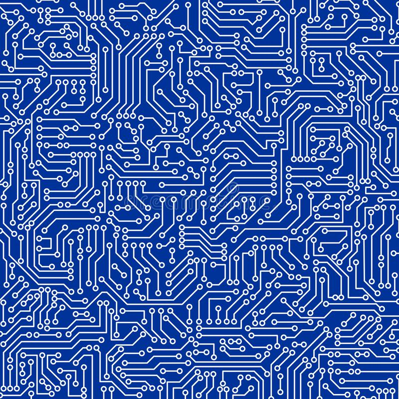 Free Blue Circuit Board Seamless Pattern Texture. High-tech Background In Digital Computer Technology Concept. Abstract Illustration Stock Photo - 138920760