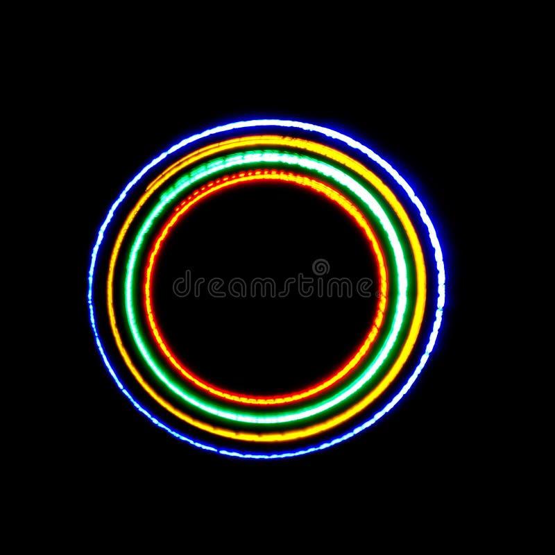 Blue circular light track stock photos