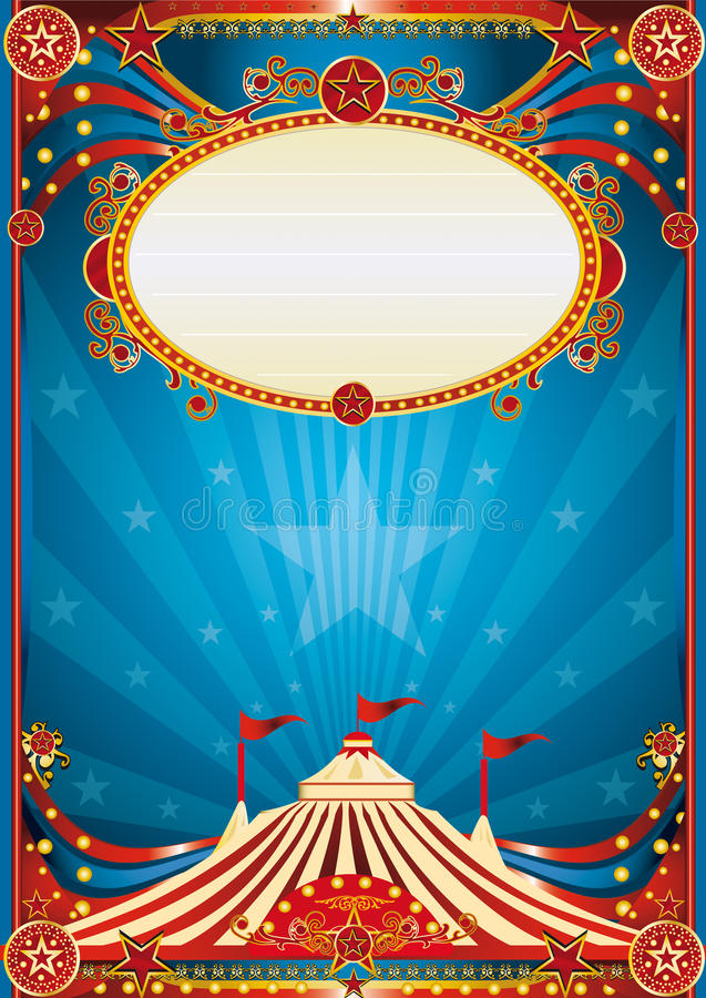 Download Blue circus background stock vector. Image of party, carnival - 24992251