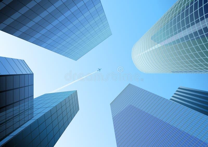 Blue city stock illustration
