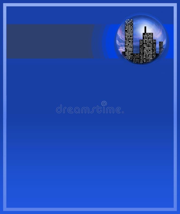 Blue city vector illustration