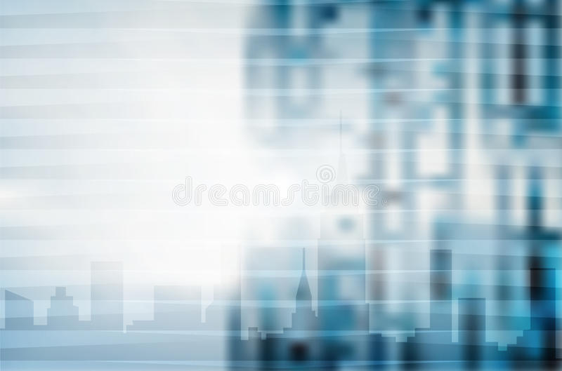 Blue city abstract digital business background stock illustration