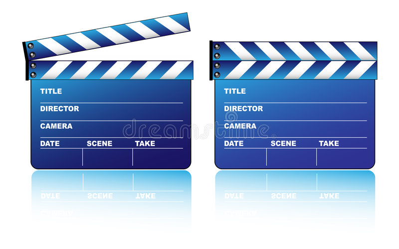 Download Blue clapboard stock vector. Image of festival, picture - 7451282
