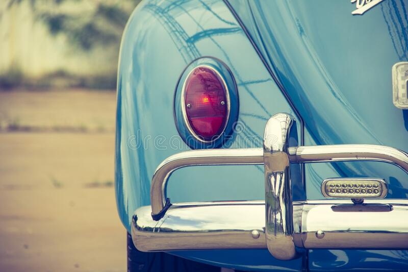 Blue Classic Car royalty free stock images