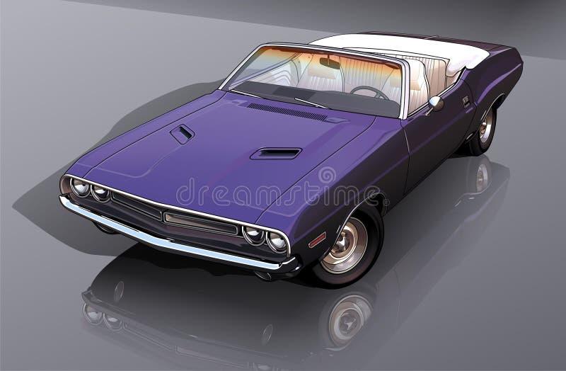 Blue Classic Convertible Car stock photo