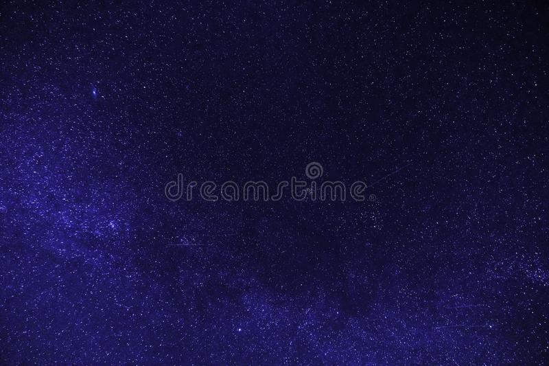 Blue clear night with stars. Galaxy With Stars, clear blue night with sky full of stars stock photography