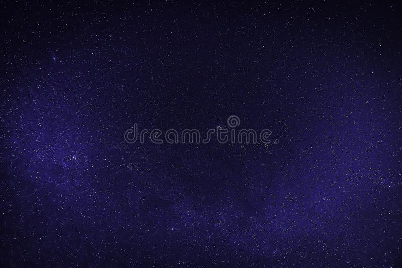 Blue clear night with stars. Galaxy With Stars, clear blue night with sky full of stars royalty free stock photo