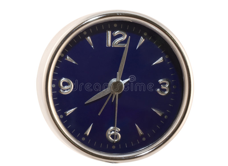 Blue Clock Face stock images