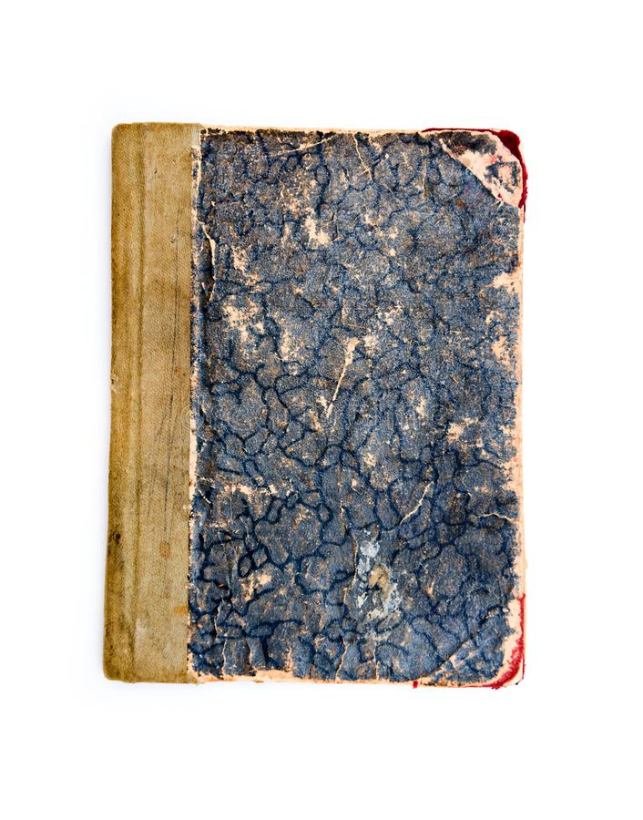 Blue closed book stock image