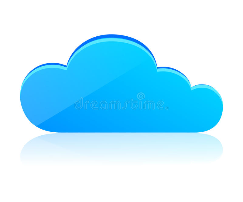 Download Blue cloud stock illustration. Image of drive, cartoon - 26129631