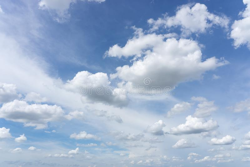 Blue cloud sky as texture. Background royalty free stock photo