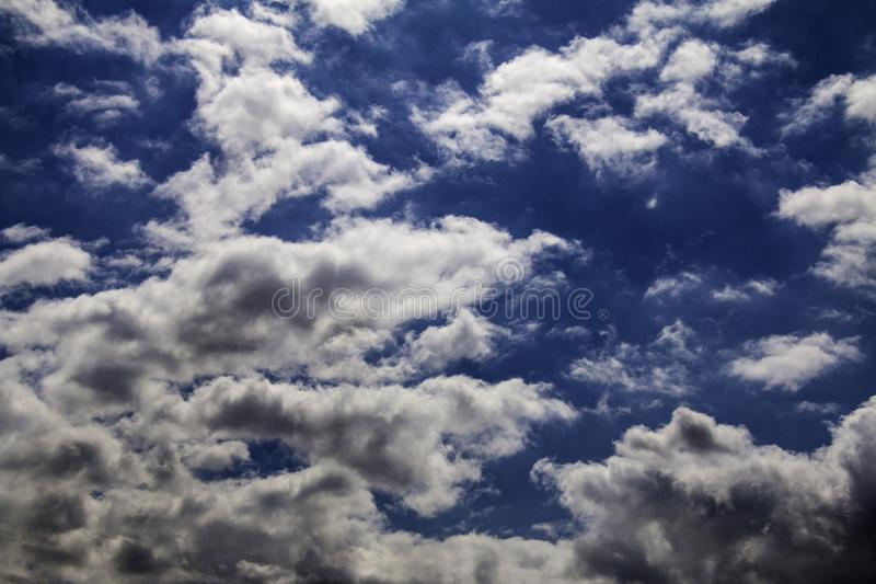 Blue clouded sky royalty free stock image