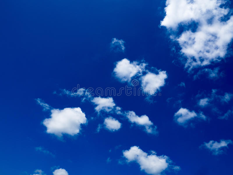 Blue clouds and sky background. Blue sky with cloud closeup royalty free stock image