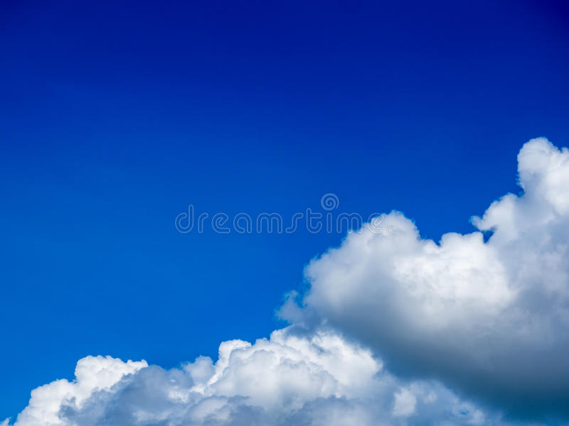 Blue clouds and sky background. Blue sky with cloud closeup royalty free stock photos