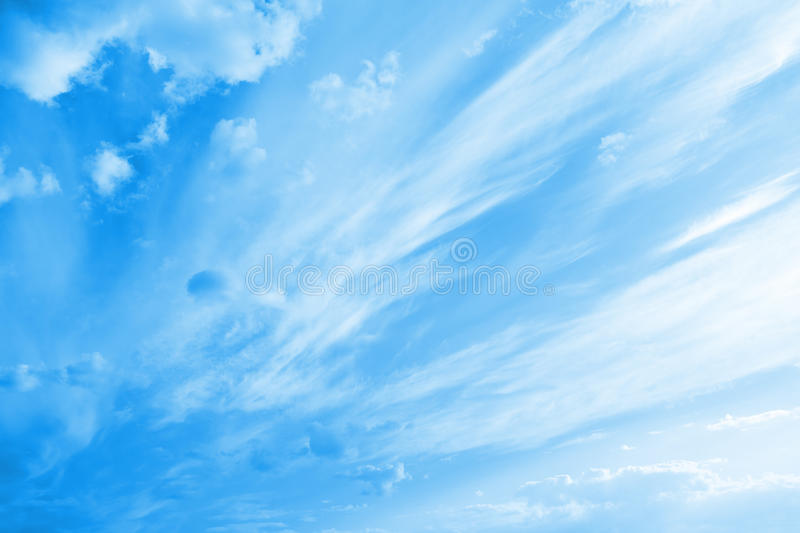 Download Blue cloudy sky stock photo. Image of meteorology, form - 23580930