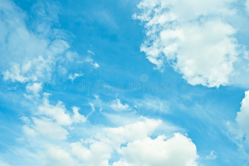 Download Blue cloudy sky stock photo. Image of bright, background - 24447088