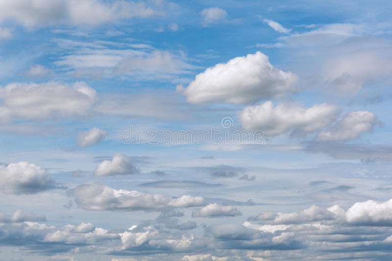 Blue and cloudy sky stock photo