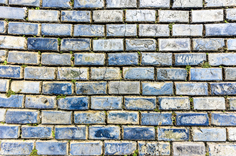 Blue Cobblestones - Old San Juan, Puerto Rico. Blue cobblestone paved street in Old San Juan, Puerto Rico. They were brought as ballast in the bottoms of stock images
