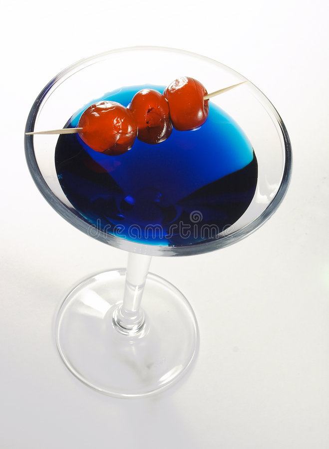 Blue cocktail 1 royalty free stock photography