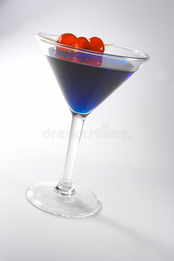Blue cocktail 2 royalty free stock images