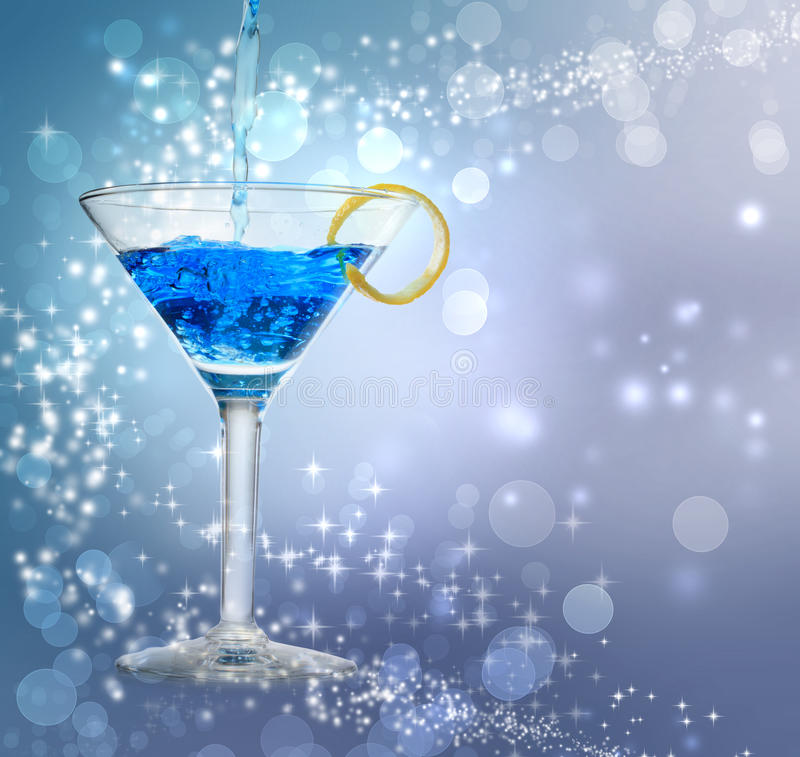 Download Blue cocktail stock photo. Image of festive, liquor, motion - 27222000