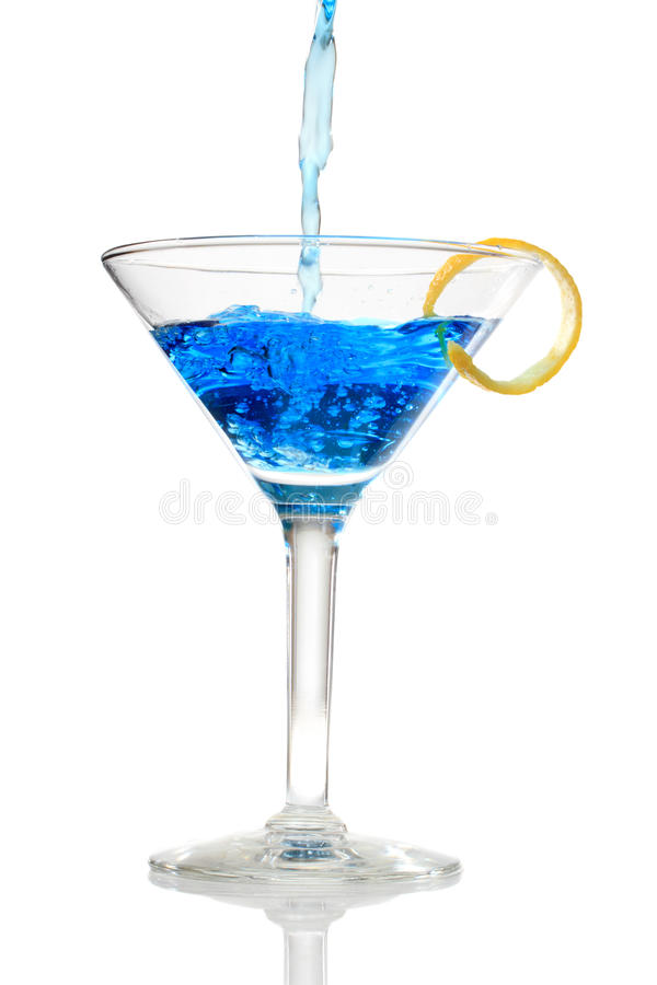 Download Blue cocktail stock image. Image of christmas, pour, background - 28499035
