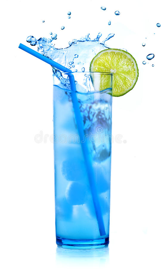 Blue cocktail martini royalty free stock image