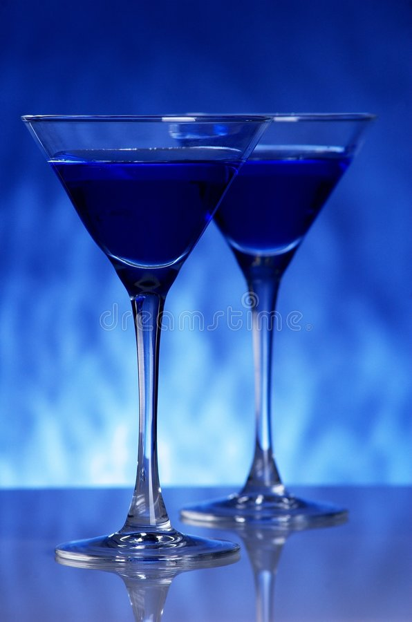 Free Blue Coctail Royalty Free Stock Photos - 5342858