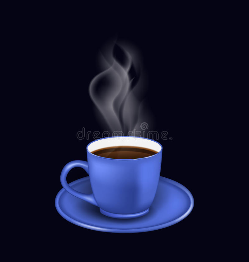 Free Blue Coffee Cup With Steam Royalty Free Stock Images - 61124099