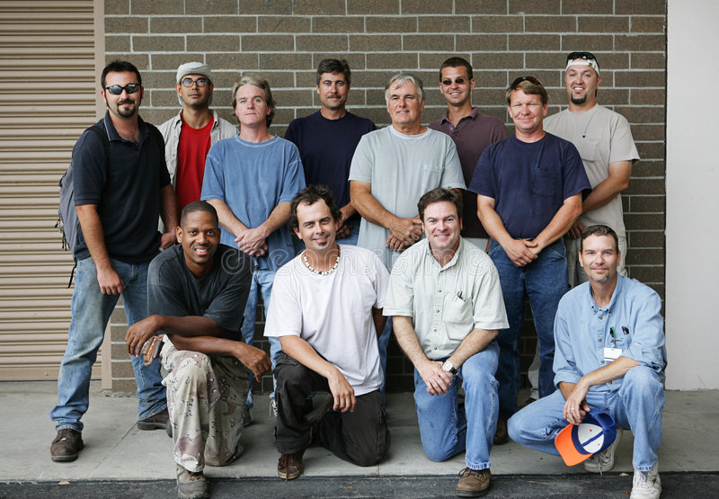Blue Collar Guys royalty free stock images