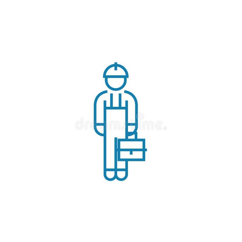 Blue collar linear icon concept. Blue collar line vector sign, symbol, illustration. royalty free illustration