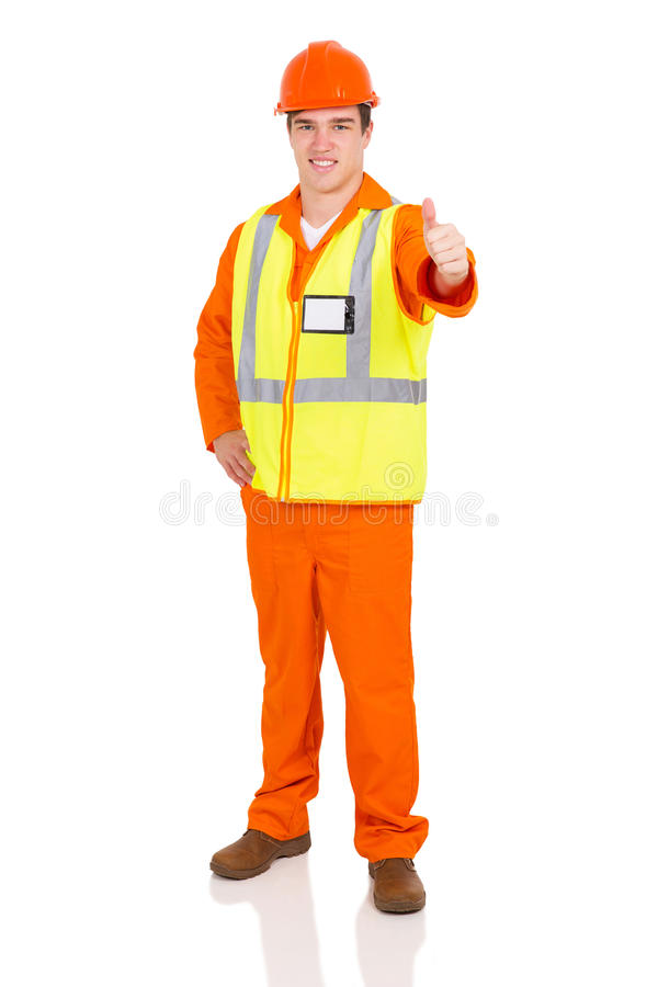 Blue collar worker royalty free stock photography