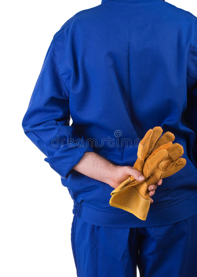 Blue collar worker. Image of a blue collar worker royalty free stock images