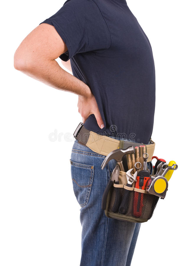 Blue collar worker. Image of a blue collar worker stock photo