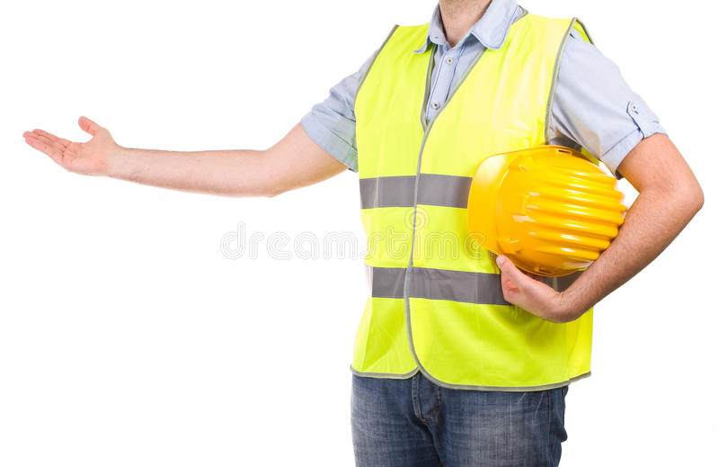 Blue collar worker. Image of a blue collar worker stock photos