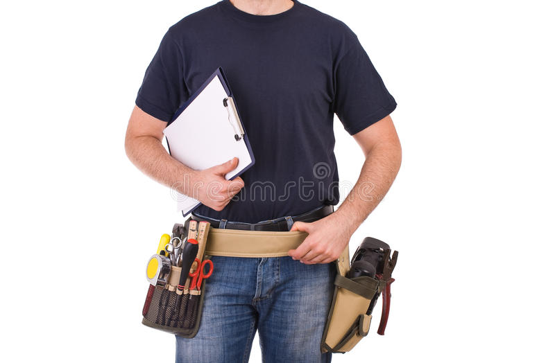Blue collar worker. Image of a blue collar worker royalty free stock photos