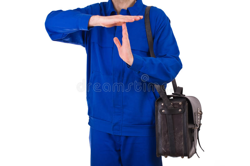 Blue collar worker. Image of a blue collar worker royalty free stock photo