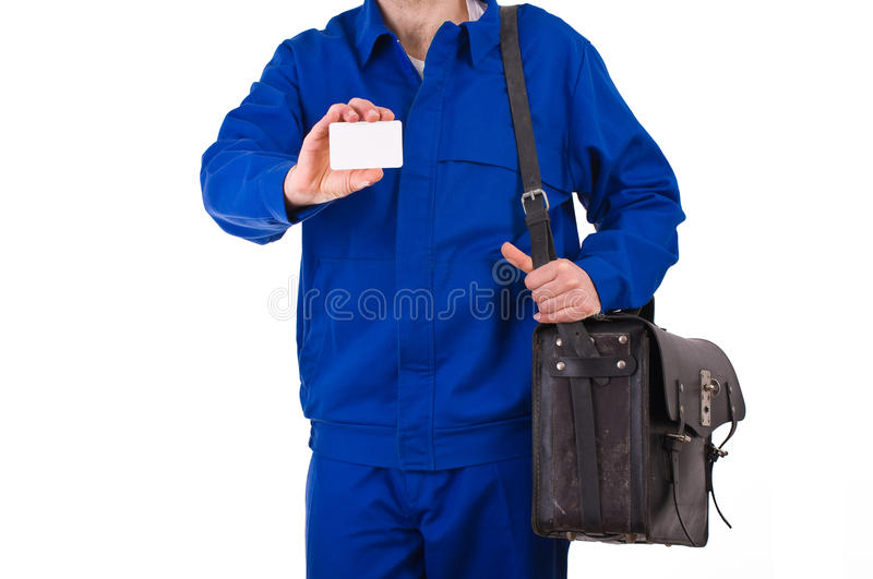 Blue collar worker. Image of a blue collar worker stock images