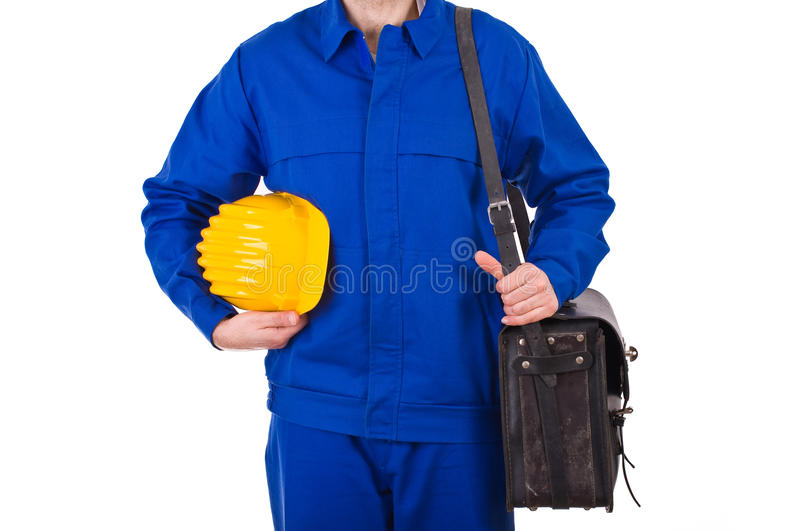 Blue collar worker. Image of a blue collar worker stock photography