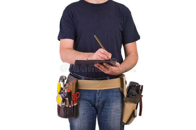 Blue collar worker. Image of a blue collar worker stock image