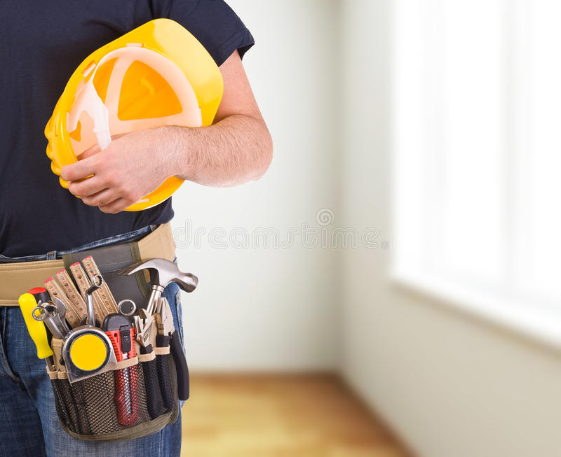 Blue collar worker. Image of a blue collar worker royalty free stock image
