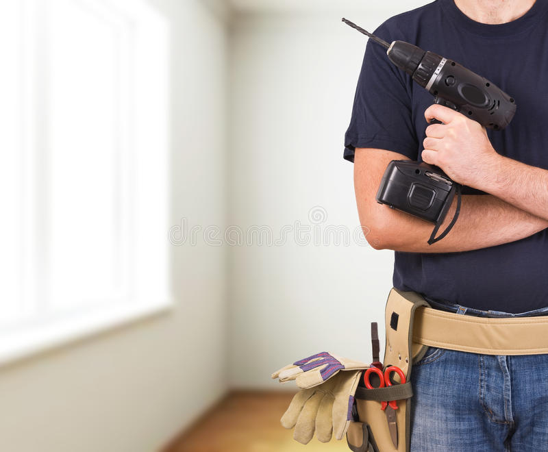 Blue collar worker. Image of a blue collar worker royalty free stock photography
