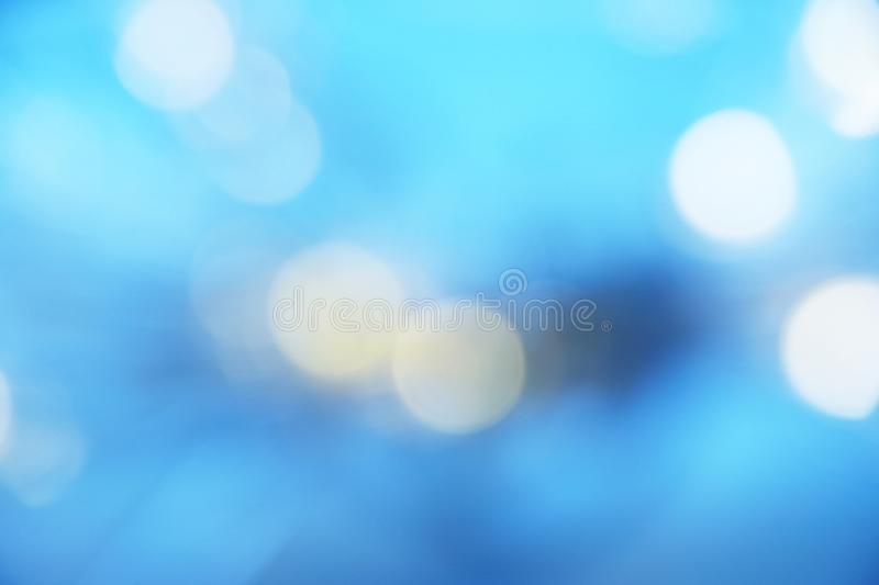 Blurred lights of Blue bokeh abstract color background. Abstract blue Bokeh lights Christmas and new year Holiday`s background stock photos