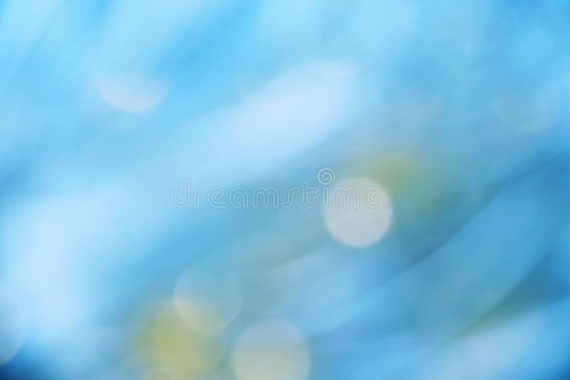Blue color abstract background with blurred defocus bokeh light stock photos